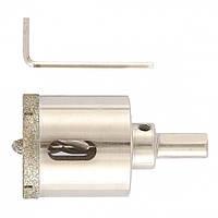 Сверло алмазное по керамограниту, 40 х 67 мм, 3-гранный хвостовик MATRIX