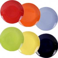 Тарелка  8,25  6 цветов Микс  6шт. в наборе