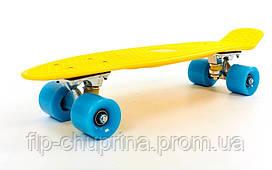 Скейтборд пластиковый Penny Original FISH 22in однотонная дека