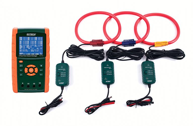 Комплект анализатора качества электроэнергии/регистратор данных Extech PQ3450-30 3000A  - «IPS» — контрольно измерительные приборы: газоанализаторы, тепловизоры, мультиметры, осциллографы в Одессе