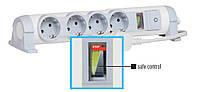 Удлинитель 3 метра 4 гнезда с индикатором мощности Safe Control Legrand 6 946 43, фото 1
