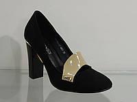 Туфли женские замшевые на высоком каблуке