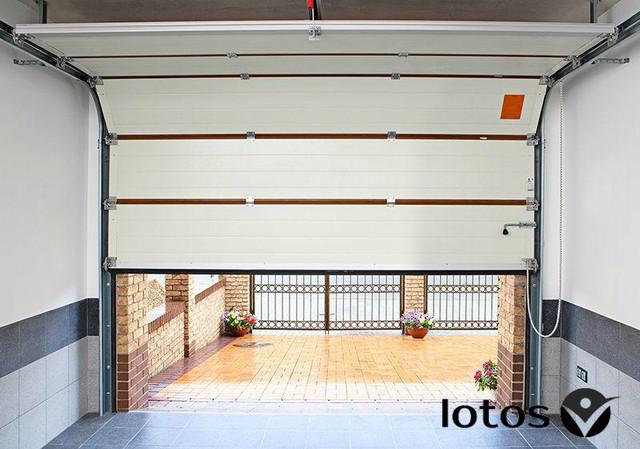 гаражные ворота вид изнутри