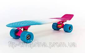 Скейтборд пластиковий Penny FISH COLOR POINT 22in смугаста дека