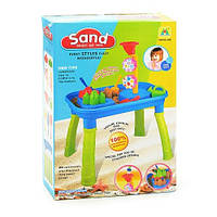 Стол для игры с песком и водой 2в1 53,5-34,5-40,5 см мельница, лейка, лопатка 2 шт, грабли, пасочки 2 шт