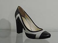 Туфли женские кожаные натуральные на  каблуке