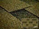 Битумная черепица Kerabit Квадро оливковый