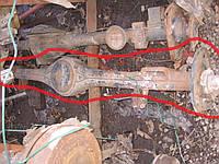 Чулок моста R14 однокатковый б/у на Ford Transit  год 1985-1992 (балочный)