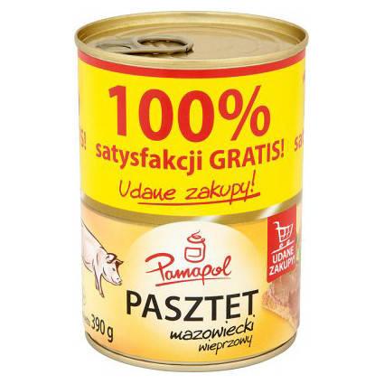 Свинной паштет Pamapol ж/б 390гр, фото 2