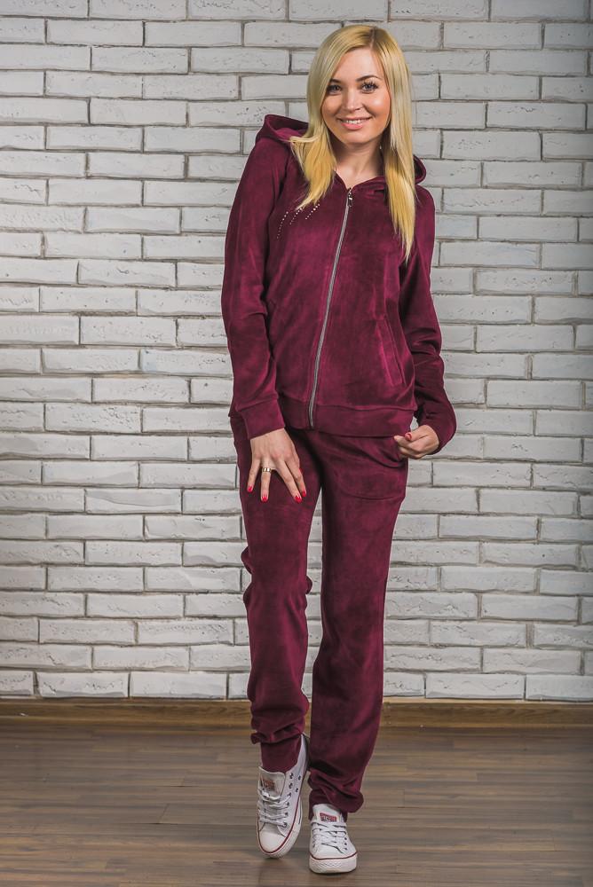 15444835 Велюровый костюм со стразами бордо: продажа, цена в Кременчуге ...