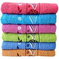 Банное полотенце Цветочная волна Б4