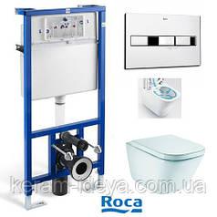 Комплект Roca Pro с унитазом Gap Reemles A34H47C000+A890090020+A890096001