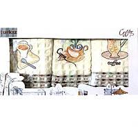 Набор кухонных полотенец Чашка кофе вафельные Н1