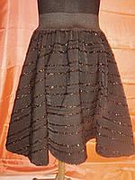 Юбка черная для девочки 10-12 лет