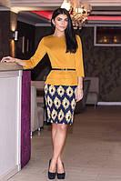 Стильное платье горчичного цвета
