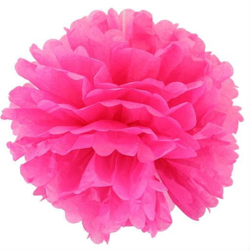 Помпон тишею яскраво рожевий 25см