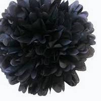 Помпон тишью черный 25см, фото 1