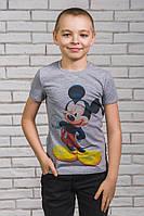 Футболка для мальчика с печатью серая