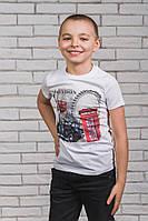 Футболка для мальчика с печатью белая