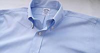 Mужская рубашка голубая оксфорд Размер 15.5 Ворот 39