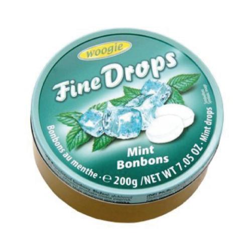Леденцы Fine drops Mint Bonbons «Мятные» 200g