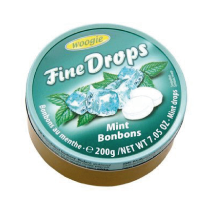 Леденцы Fine drops Mint Bonbons «Мятные» 200g, фото 2