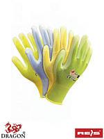 Защитные перчатки, выполненные из нейлона ярких цветов RPOLICOLOR MIX-YPZJN