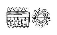 Фреза червячная модульная Новикова М3 А 20˚ 2˚6' S3̕̕'' Р12 88х86х32