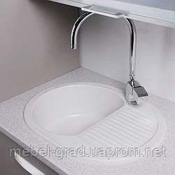 Кухонная мойка Yuta Fancy Marble белый