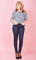 Лосины из турецкого трикотажа, имитирующие брюки