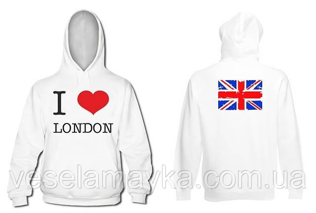 "Толстовка ""I love london"". (Я люблю Лондон)"