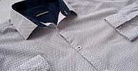 Mужская рубашка стильная в точку Размер 16 Ворот 41короткий рукав