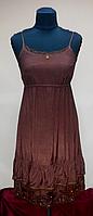 Сарафан, бордово-коричневый, вискоза,  на 42-44 размеры