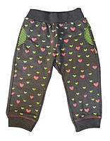Штаны для девочки в сердечко