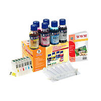 НПК WWM Epson Stylus Photo R270/290/295/390, RX590/610/615/690, T50/59, TX650/659/700W/710W/800W, 1410, с АО чипами, 6x100 г чернил (RC.T082T)