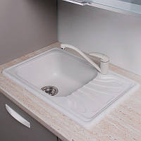 Кухонная мойка Filadelfia Fancy Marble белый