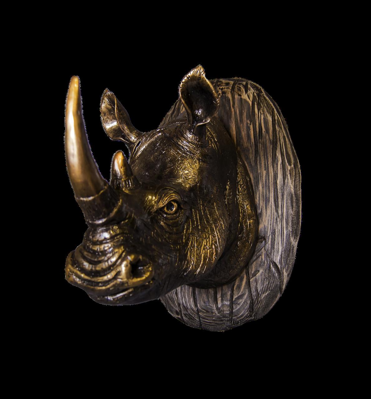 Голова носорога - настенный декор