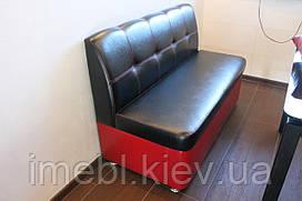 Кухонні лавка з скринькою (чорно-червона)