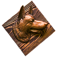 Панно - голова собаки