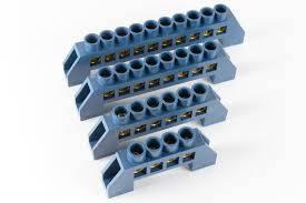 Шина нульова в ізоляторі синя 6 * 9/4, фото 2