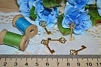Металлический декор Ключ золото