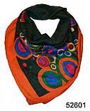 Женский зеленый турецкий платок, фото 3