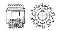 Фреза червячная модульная М3 20˚ В 2˚08̕ Р18 88х78х32