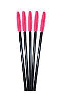 Силиконовая щеточка для расчесывания ресниц, цвет нежно-розовый