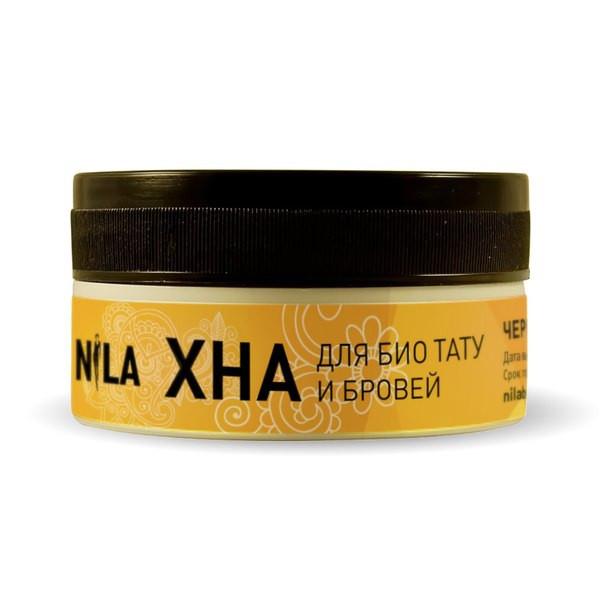 Хна для бровей и биотату Nila, 100г, чёрная