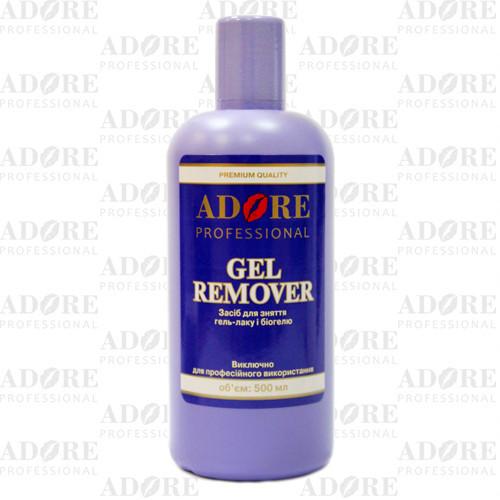 Жидкость для снятия гель-лака и биогеля 500 мл, Adore Professional
