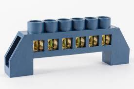 Шина нульова в ізоляторі синя 6 * 9/6, фото 2