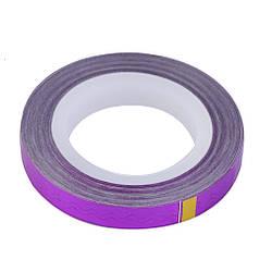 Лента для дизайна ногтей, фиолетовый голографик, 20 м