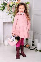 Пальто демисезонное для девочки «Малышка» (пудра)