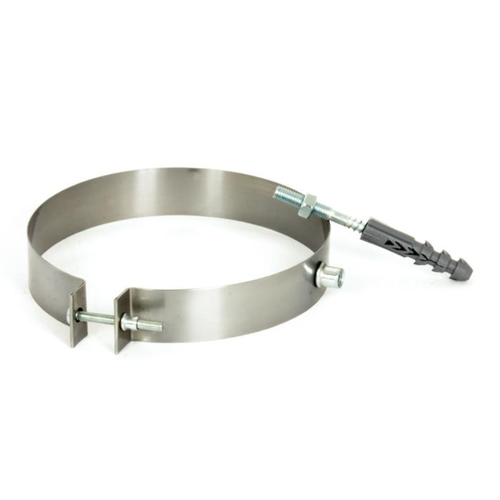 Скоба ø120 мм из нержавеющей стали для крепления трубы дымохода дымоходная Версия-Люкс
